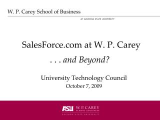SalesForce at W. P. Carey