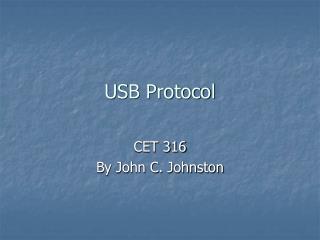 USB Protocol