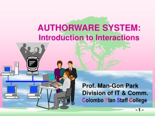 AUTHORWARE SYSTEM: Introduction to Interactions