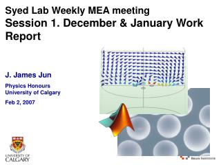 Syed Lab Weekly MEA meeting Session 1. December & January Work Report