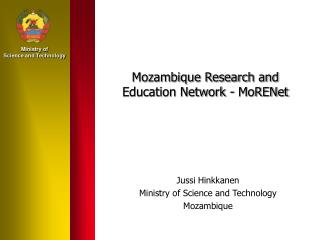 Mozambique Research and Education Network - MoRENet