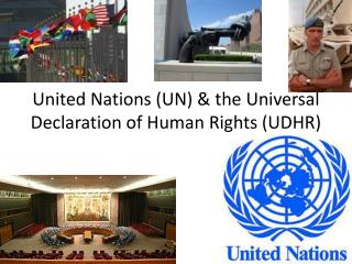 United Nations (UN) & the Universal Declaration of Human Rights (UDHR)