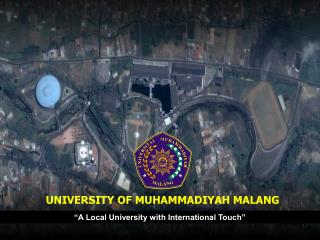 """A Local University with International Touch"""