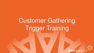 Customer Gathering Trigger Training