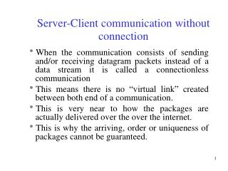 Server-Client communication without connection