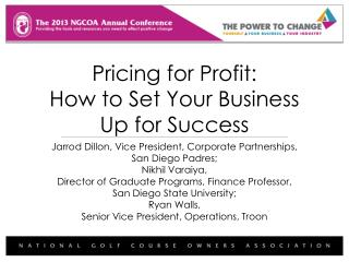 Pricing for Profit:  How to Set Your Business Up for Success