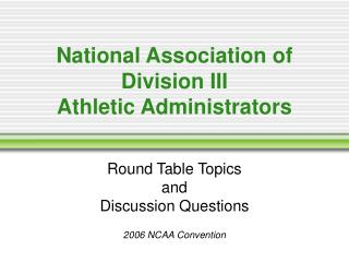 National Association of Division III Athletic Administrators