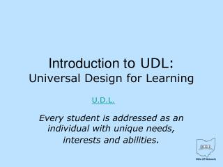 Introduction t o UDL: Universal Design for Learning
