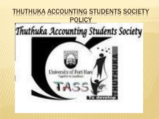 Thuthuka accounting students society policy