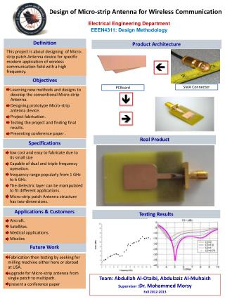 Design of Micro-strip Antenna for Wireless Communication