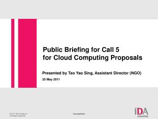 Public Briefing for Call 5  for Cloud Computing Proposals