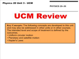 UCM Review