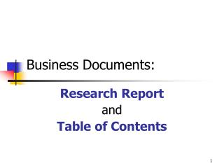 Business  Documents: