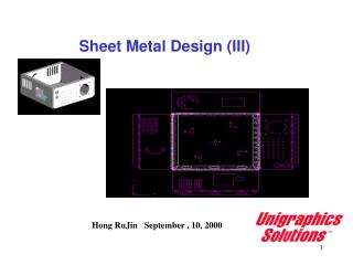 Sheet Metal Design (III)