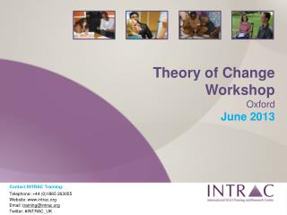 Theory of Change Workshop Oxford June 2013