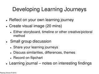 Developing Learning Journeys