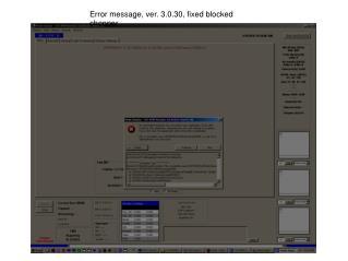 Error message, ver. 3.0.30, fixed blocked chopper