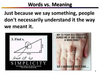 Words vs. Meaning