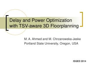 Delay and Power Optimization with TSV-aware 3D Floorplanning