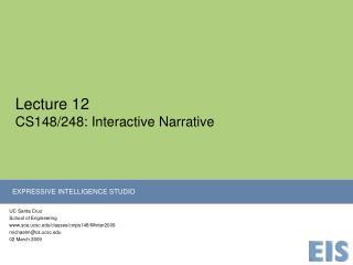 Lecture 12 CS148