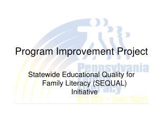 Program Improvement Project