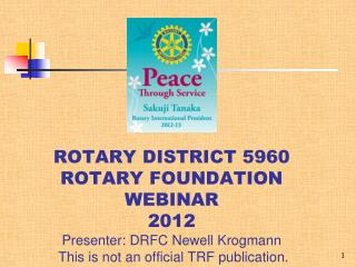 ROTARY FOUNDATION WEBINAR