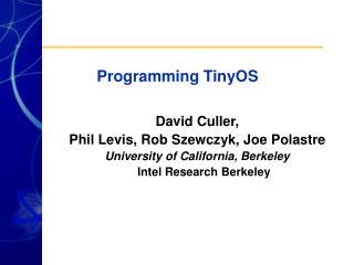 Programming TinyOS