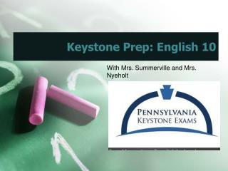 Keystone Prep: English 10