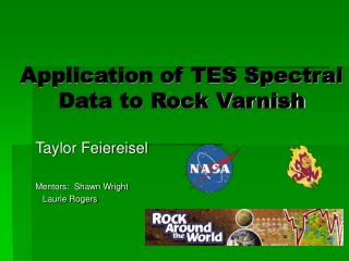Application of TES Spectral Data to Rock Varnish