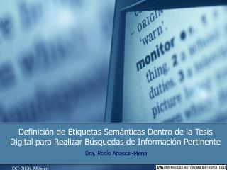 Dra. Rocío Abascal-Mena