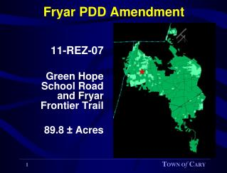 Fryar PDD Amendment