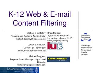 K-12 Web & E-mail Content Filtering
