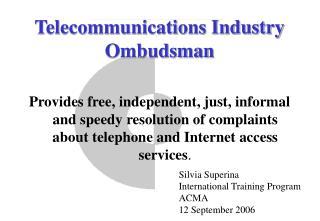 Telecommunications Industry Ombudsman