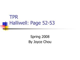 TPR Halliwell: Page 52-53