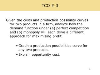 TCO # 3