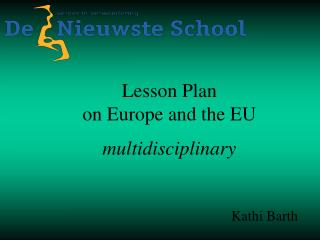 Lesson Plan on Europe and the EU multidisciplinary