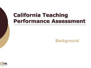 California Teaching Performance Assessment