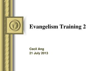 Evangelism Training 2