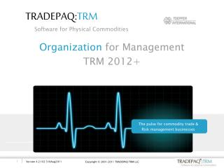 Organization  for Management  TRM 2012+