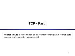 TCP - Part I