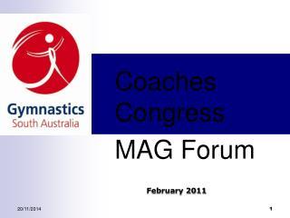 Coaches Congress MAG Forum
