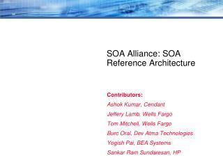 SOA Alliance: SOA Reference Architecture