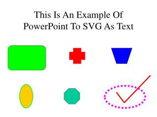 This Is An Example Of PowerPoint To SVG As Text