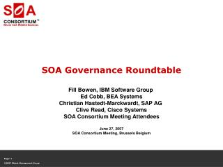 SOA Governance Roundtable
