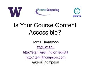 Is Your Course Content Accessible?