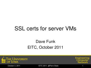 SSL certs for server VMs