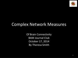 Complex Network Measures