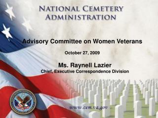 Advisory Committee on Women Veterans   October 27, 2009