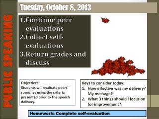 Tuesday , October  8,  2013