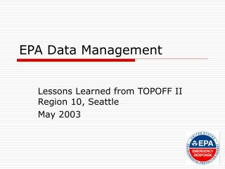 EPA Data Management